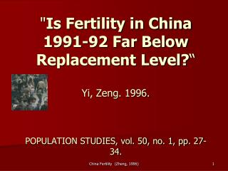China : Total fertility rate
