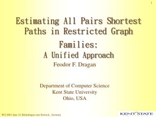 Estimating All Pairs Shortest Paths in Restricted Graph Families: A Unified Approach