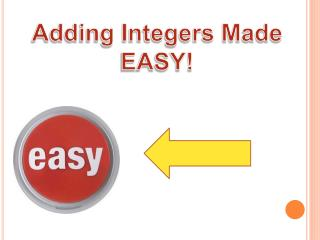 Adding Integers Made  EASY!