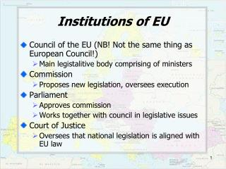 Institutions of EU