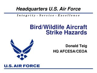 Bird/Wildlife Aircraft Strike Hazards
