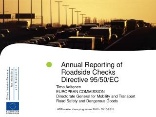 Annual Reporting of Roadside Checks Directive 95/50/EC