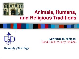 Animals, Humans,  and Religious Traditions