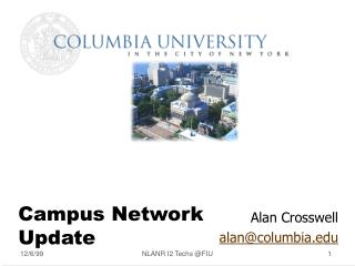 Campus Network Update