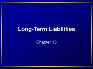 Long-Term Liabilities