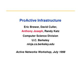 ProActive Infrastructure
