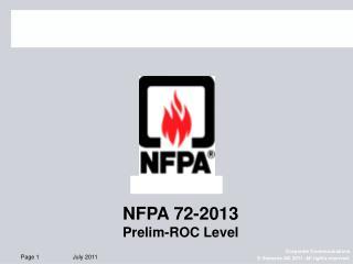 NFPA 72-2013 Prelim-ROC Level