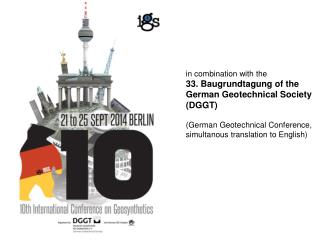 in combination with the  33. Baugrundtagung of the German Geotechnical Society  (DGGT)
