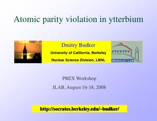 Atomic parity violation in ytterbium