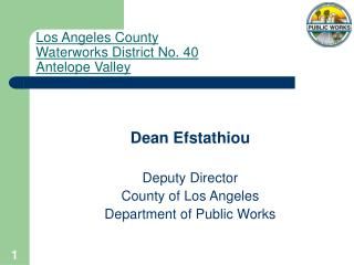 Los Angeles County Waterworks District No. 40 Antelope Valley