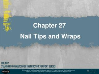Chapter 27  Nail Tips and Wraps