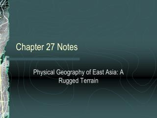 Chapter 27 Notes