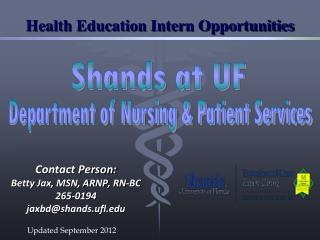 Health Education Intern Opportunities