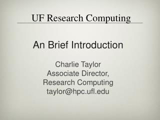 UF Research Computing
