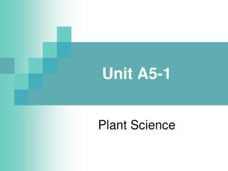 Unit A5-1