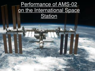 Performance of AMS-02 on the International Space Station
