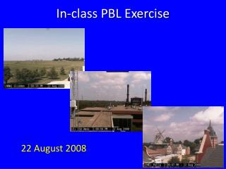 In-class PBL Exercise