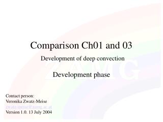 Comparison Ch01 and 03 Development of deep convection