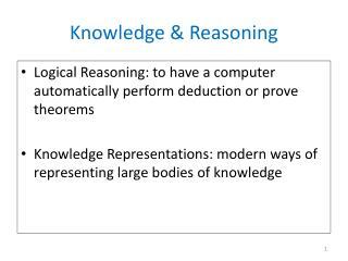 Knowledge & Reasoning