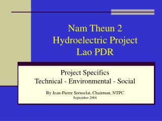 Nam Theun 2  Hydroelectric Project   Lao PDR