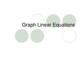 Graph Linear Equations