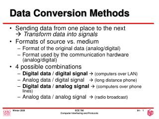 Data Conversion Methods