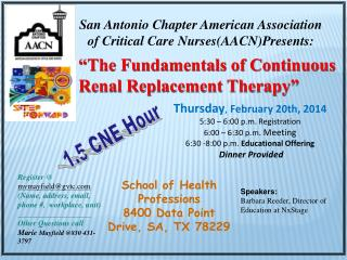 """The Fundamentals of Continuous Renal Replacement Therapy"""