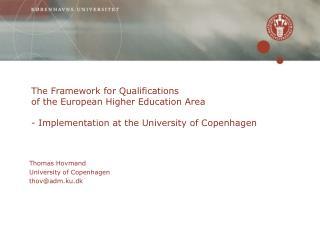 Thomas Hovmand University of Copenhagen  thov@adm.ku.dk