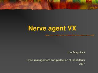 Nerve agent VX