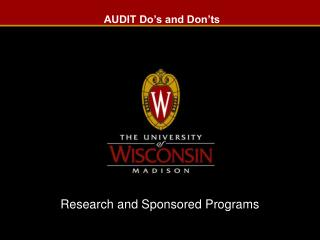 AUDIT Do's and Don'ts