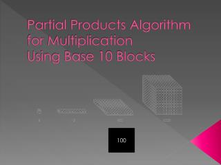 Partial Products Algorithm for  Multiplication Using Base 10 Blocks