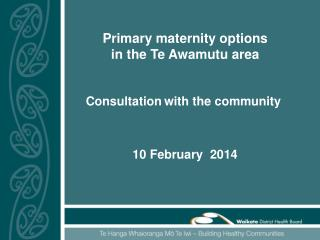 Primary maternity options  in the Te Awamutu area