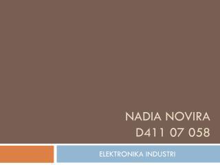 NADIA NOVIRA D411 07 058