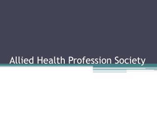 Allied Health Profession Society
