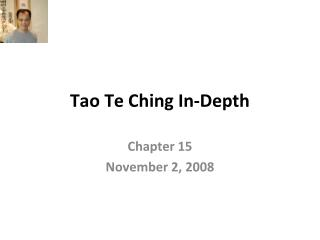 Tao Te Ching In-Depth