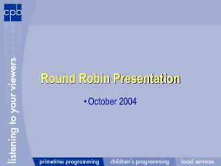 Round Robin Presentation
