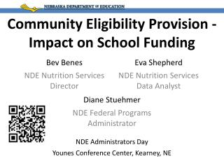 Community Eligibility Provision - Impact on School Funding