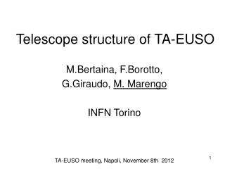 Telescope structure of TA-EUSO