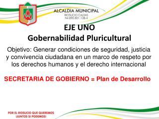 EJE UNO Gobernabilidad Pluricultural