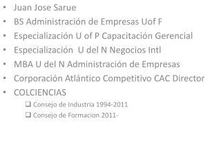Juan Jose Sarue BS Administración de Empresas  Uof  F