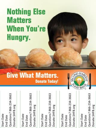 Start Date End Date Questions ? 866-234-3663 Donate.SHFB
