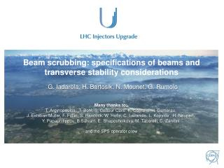 Beam scrubbing:  specifications  of beams and transverse stability considerations