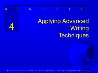 Applying Advanced Writing Techniques