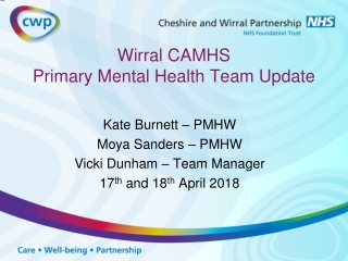 CAMHS and  Primary care