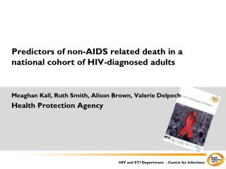Predictors of non-AIDS related death in a national cohort of HIV-diagnosed adults