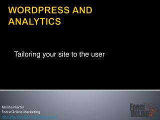 WORDPRESS AND ANALYTICS