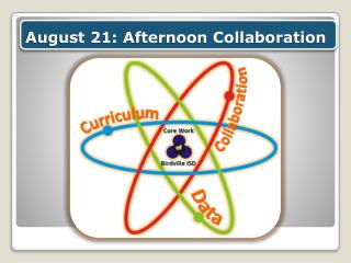 August 21: Afternoon  Collaboration