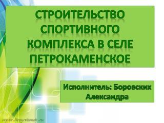 Строительство спортивного к омплекса в селе Петрокаменское
