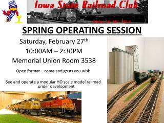 SPRING OPERATING SESSION