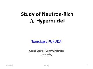 Study  of Neutron-Rich  L H ypernuclei